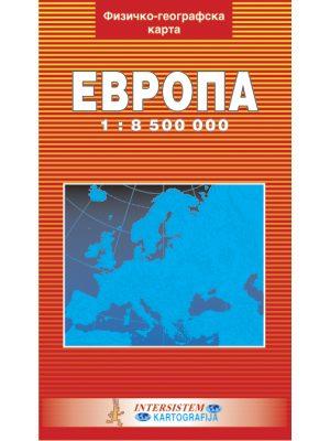 EVROPA fizičko-geografska karta