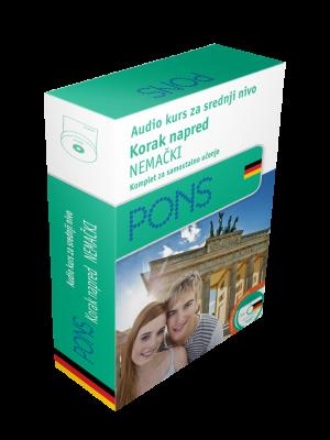 PONS Nemački korak napred - audio kurs za srednji nivo