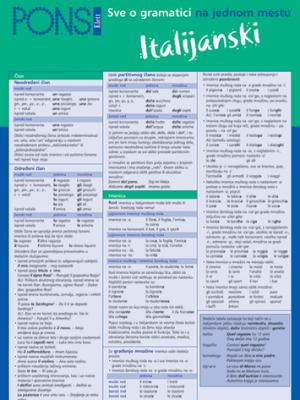 PONS Sve o gramatici na jednom  mestu - Italijanski